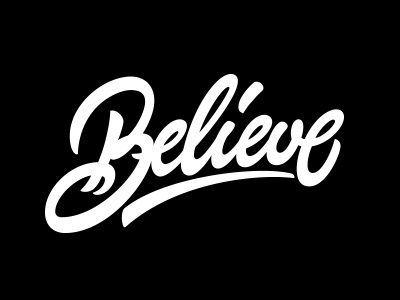 Believe hand-written tee t-shirt inspire design vs cancer calligraphy lettering