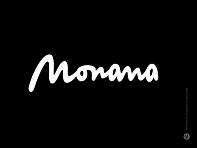 Monana inscription логотип лого леттеринг hand-writing calligraphy typography custom logo clothing apparel wear lettering logotype logo
