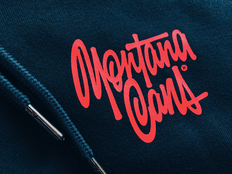 MontanaCans™ леттеринг hand-writing script logotype calligraphy hand lettering logo lettering montanacans montana apparel graphics apparel clothing wear hoodie