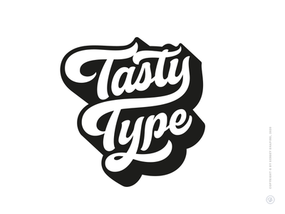 Tasty Type lettering design font type tasty леттеринг hand-writing script logotype typography custom calligraphy logo lettering