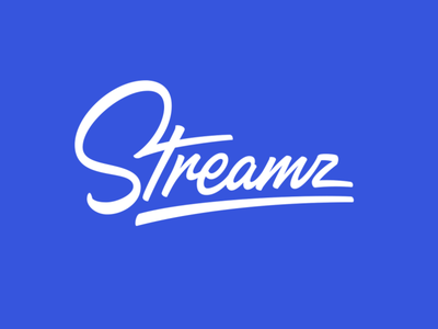 Streamz design custom леттеринг hand-writing script typography logotype calligraphy lettering logo
