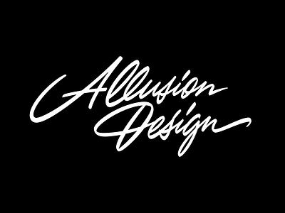 Allusion Design lettering logo identity script logo script лого леттеринг logotype typography custom calligraphy logo lettering