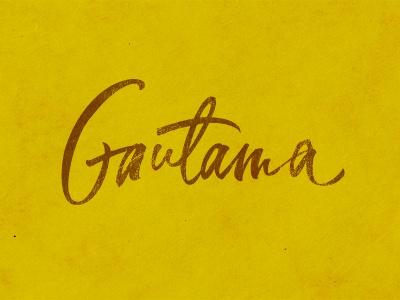 Gautama custom lettering hand-written calligraphy brush gautama label