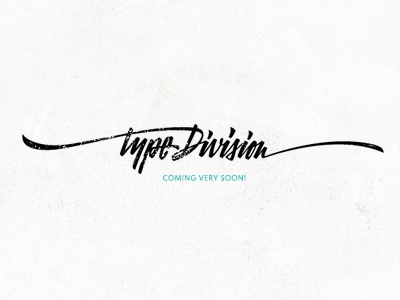 Type Division logo blog type typography lettering custom freestyle brush hand-writing