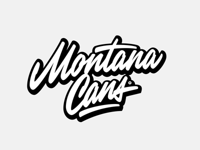 Montana Cans brushpen custom script graffiti apparel montana cans hand-writing леттеринг typography calligraphy logo lettering