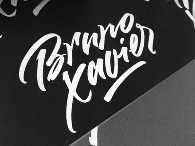 Bruno Xavier logo calligraphy letterng brush brush script custom identity id каллиграфия леттеринг лого логотип