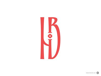 HB script logotype logo typography monogram design inscription vyaz cyrillic initials monogram calligraphy lettering