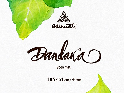 Dandaka & Gautama package sticker graphic typography calligraphy lettering