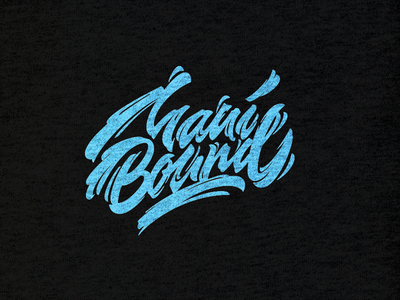 refined and digitalized lettering for maui bound t shirt