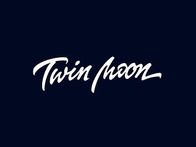 Twin Moon logo logotype lettering typography calligraphy branding design лого леттеринг типографика дизайн