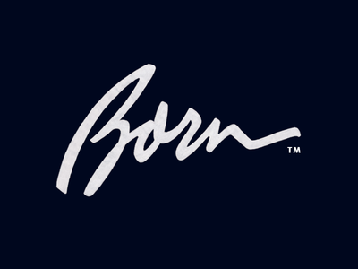Born logotype типографика lettering typography calligraphy custom design branding лого логотип леттеринг logo