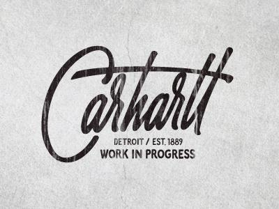 Carhartt lettering typography calligraphy tee t-shirt brush pen