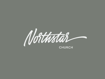Northstar church logo identity lettering calligraphy hand-writing brush pen