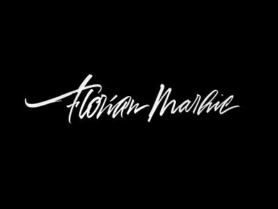 Florian Marhic brushpen-script brushscript script lettering calligraphy logotype logo