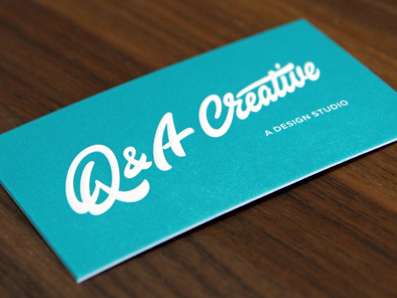 Q&A Creative typography lettering logotype logo stationary identity card business-card businesscard