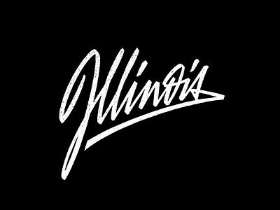 Illinois wear tee t-shirt casual script brushpen-script brushpen us state calligraphy illinois lettering
