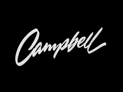 Campbell лого каллиграфия леттеринг логотип brushpen-script brushpen script custom calligraphy lettering logotype logo