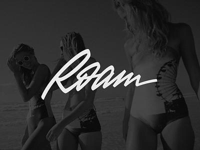 Roam леттеринг логотип лого brush-pen script script identity design calligraphy lettering logotype logo