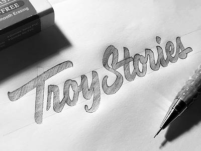 Troy Stories леттеринг лого логотип script typography lettering logotype logo