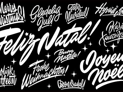 Christmas Bundle  frohe weihnachten buon natale feliz navidad jouyeux noel merry christmas merrychristmas christmas custom lettering calligraphy lettering