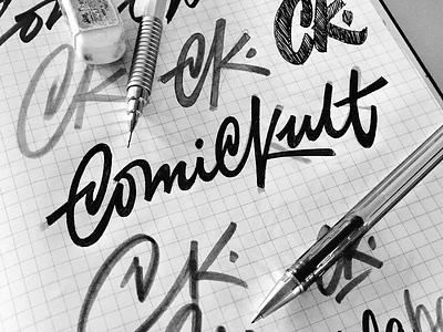 ComicKult advertising lettering brushpen lettering brushpen comic lettering logotype logo