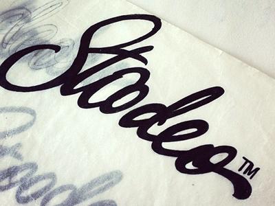 Stoodeo logo identity lettering calligraphy typography brushpen hand-written custom script