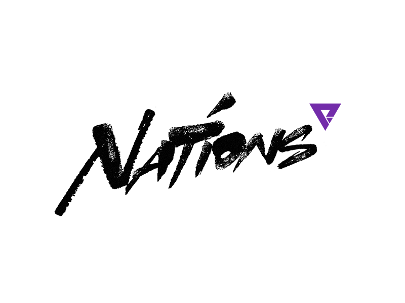 Nations graphic design design nations brush script brush chinese calligraphy lettering