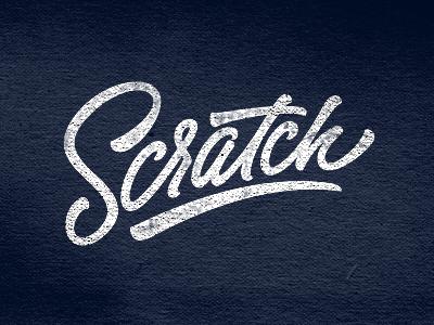 Scratch logo identity oldschool lettering custom typographic swoosh