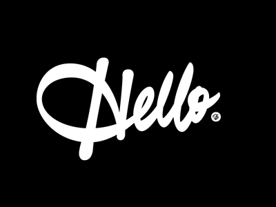 Hello brush script greeting hey hello customlettering lettering