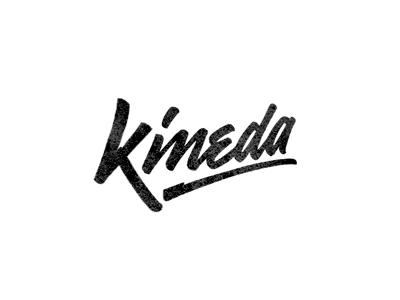 Kineda logo draft initial concept sketch lettering custom hand-writing brush-pen gel-pen