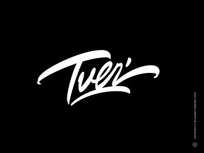 Tver' custom hand-writing logo vector script brush calligraphy typography brushpen script brushpen lettering freestyle lettering town tver