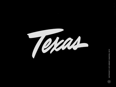 Texas design script custom typography hand-writing calligraphy united states us states states usa today usa vector brushlettering lettering