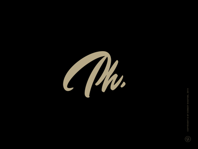 Philipp Fischer brush script lettering procreate custom lettering logo design design initials lettering logotype logo