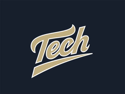 Tech uniform sports lettering baseball georgia tech tech lettering