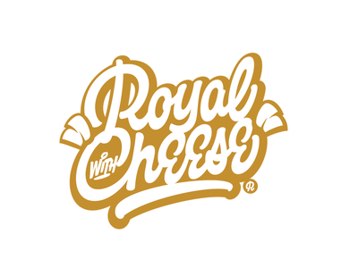 Royal with Cheese lettering logo logo design graphicdesign art apparel wear clothing lettering logotype logo