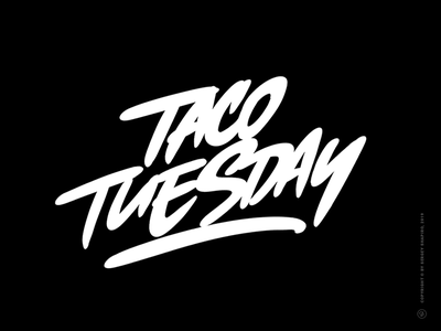 Taco Tuesday lettering logo lettering art handwriting handwritten customlettering procreateapp procreate brush mexican tacos taco lettering