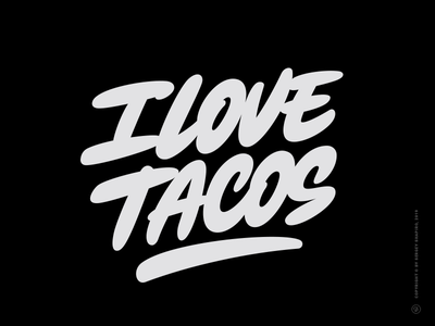 I LoveTacos script mexican food mexican tacos calligraphy typography bold vector tshirt art tshirt lettering