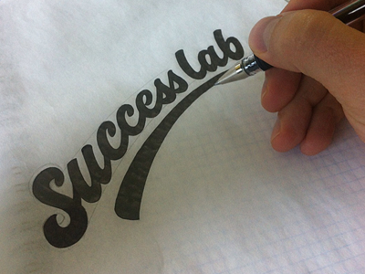 Success lab logo lettering typography letters id hand hand drawn custom black sketch sketching doodle