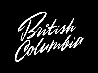 British Columbia sketch custom vector hand-writing calligraphy lettering art advertising script advertising lettering custom script script apparel wear clothing t-shirt lettering