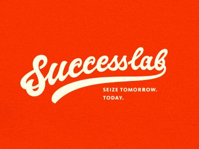 Successlab logo lettering typography custom script scripty swoosh hand-writing hand-drawing writing orange carrot