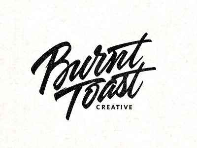 Burnt toast by sergey shapiro dribbble Calligraphy logo