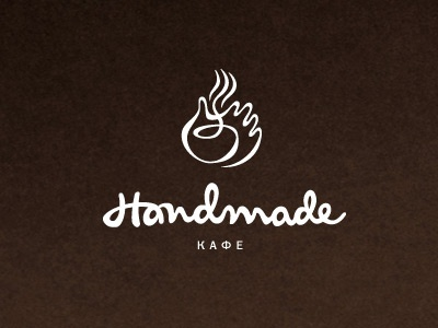 Handmade cafe handmade cafe logo hand typography branding