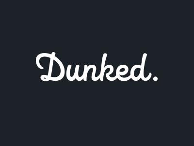 Dunked logo lettering typography web app