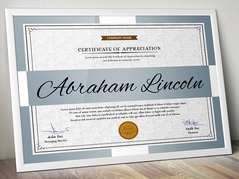 Certificates Gd005 By Aslam Hossain Dribbble