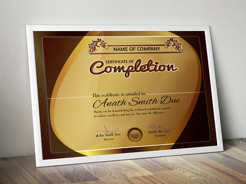 Free Download Certificate By Aslam Hossain Dribbble