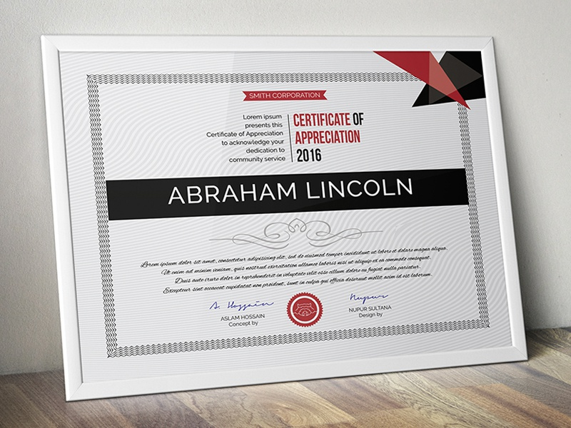 Multipurpose Certificate GD025 by Aslam Hossain | Dribbble ...