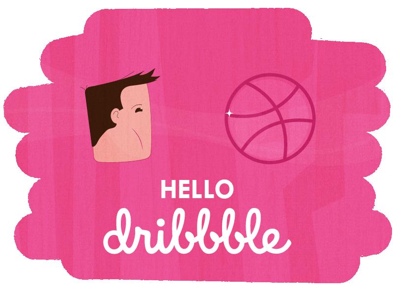 Hello Dribbble hello introduction