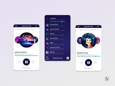 Music Player - Daily UI 9 arienne visuals music app music player product design google pixel ui design ui dailyui