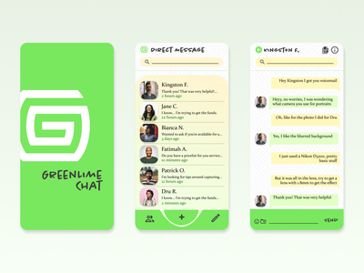 Direct Messaging - Daily UI 013 user interface brand design messaging app ui design product design