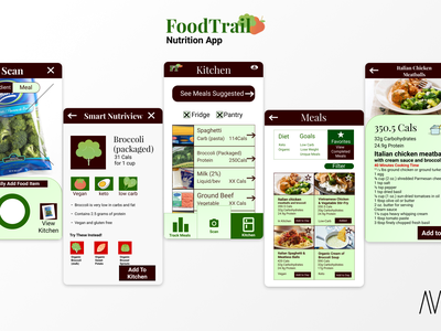 FoodTrail Nutrition App (UX) android google pixel keto fitness nutrition food ux design user experience design user interface product design